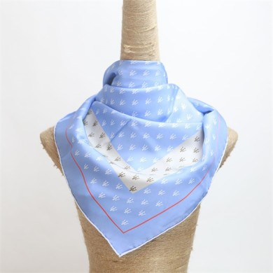 nice quality digital printed ladies twill silk scarf (2)