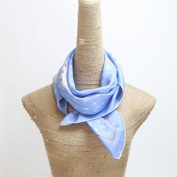 nice quality digital printed ladies twill silk scarf (3)