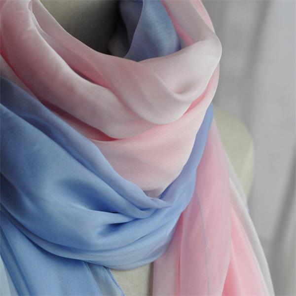 ombre long silk chiffon scarf (1)