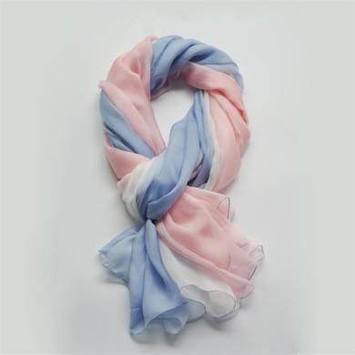ombre long silk chiffon scarf (10)