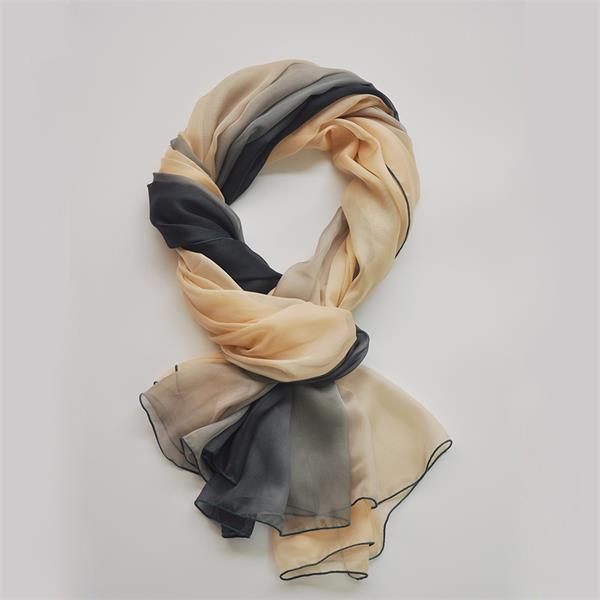 ombre long silk chiffon scarf (11)