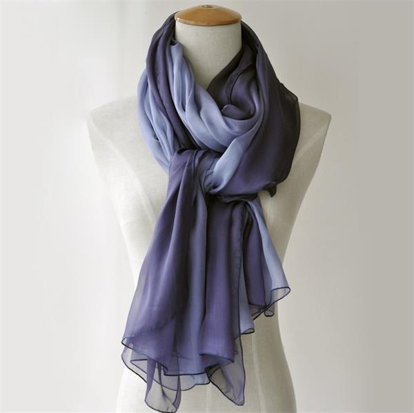 ombre long silk chiffon scarf (6)