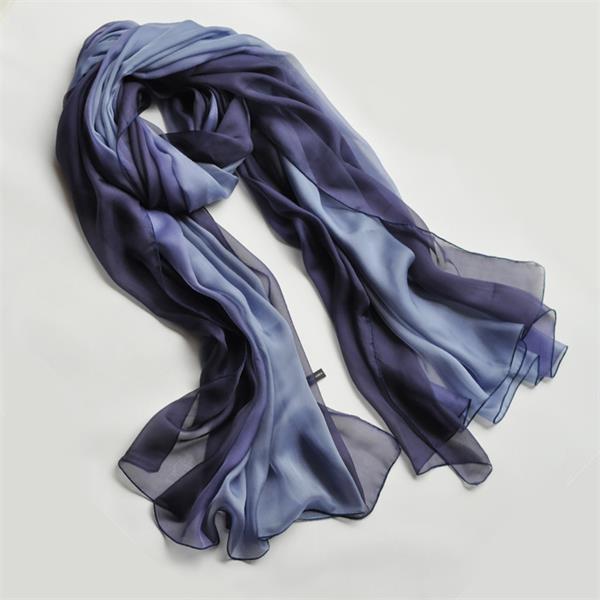ombre long silk chiffon scarf (7)
