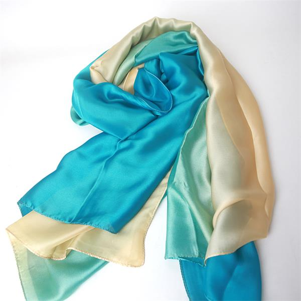ombre polyester chiffon crepe shawl crepe back satin scarf(2)