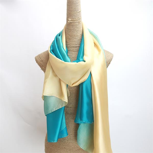 ombre polyester chiffon crepe shawl crepe back satin scarf(3)
