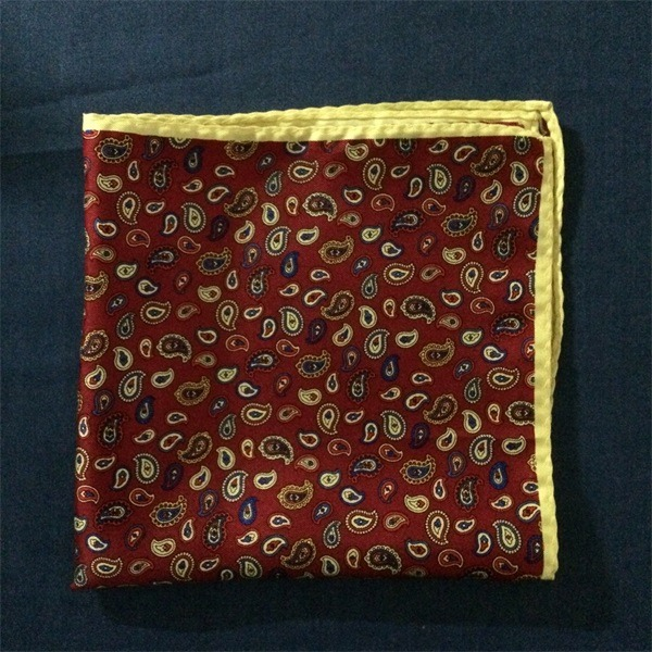 paisley silk hankies pocket square(4)