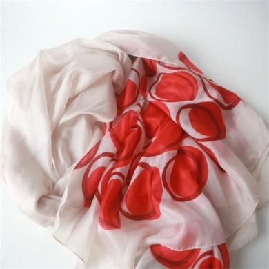 personalized silk scarves,thin silk scarf, (2)