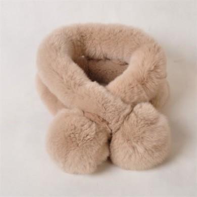 pink rabbit fur scarf