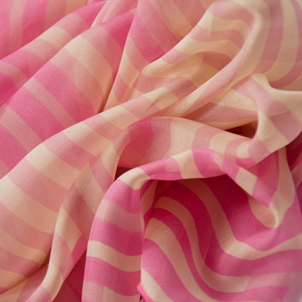 pink striped silk scarf (1)