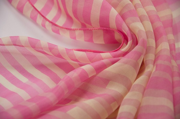 pink striped silk scarf (3)