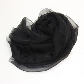plain black silk scarf (2)