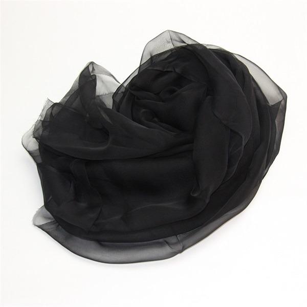 plain black silk scarf (2)