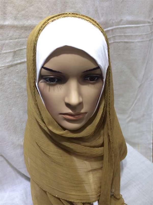plain color beaded crinkle silk scarves