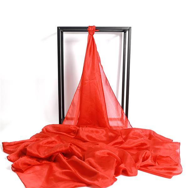 plain red silk scarf,red silk veil (1)