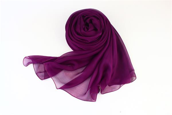 purple silk scarf plaIn silk scarves (2)