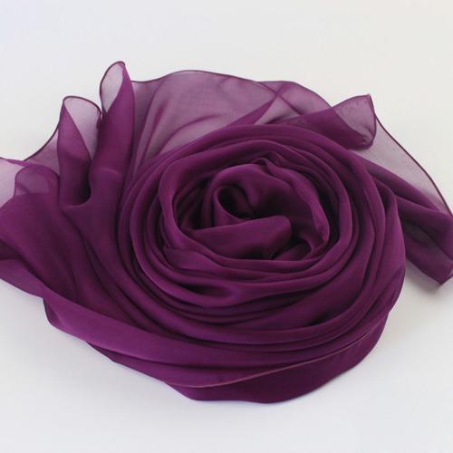 purple silk scarf plaIn silk scarves (3)