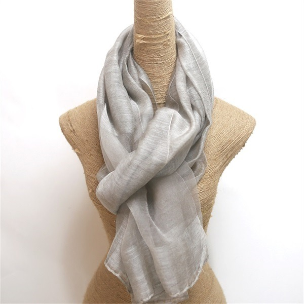 raw silk scarf shawl solid dyed silk wool mixed (2)