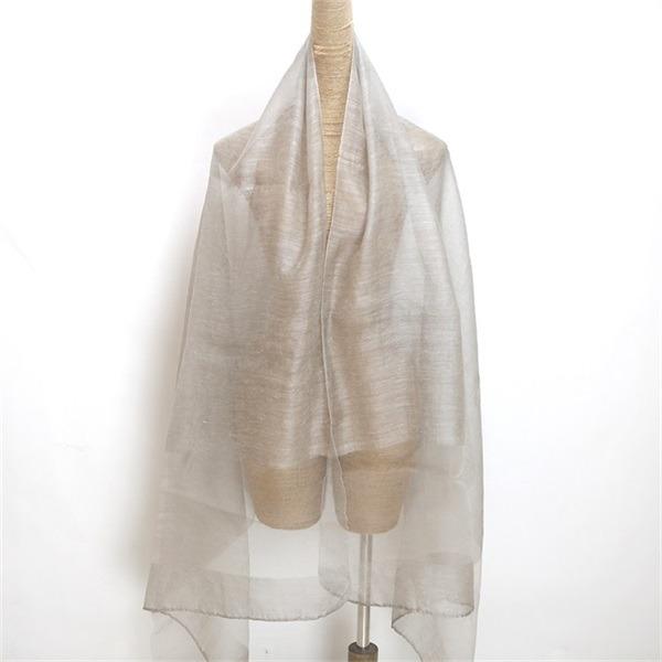 raw silk scarf shawl solid dyed silk wool mixed (4)