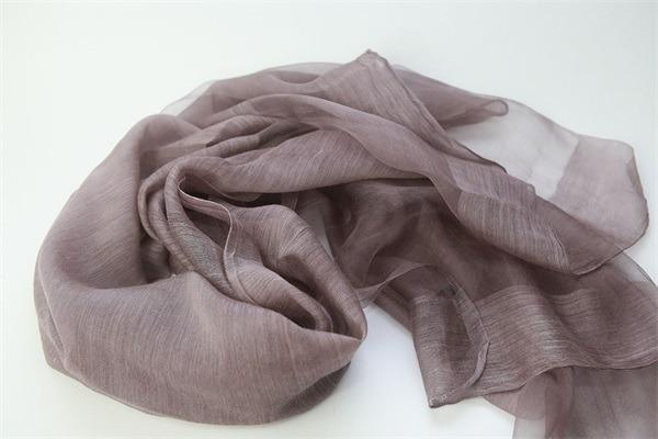 raw silk scarf shawl solid dyed silk wool mixed (7)