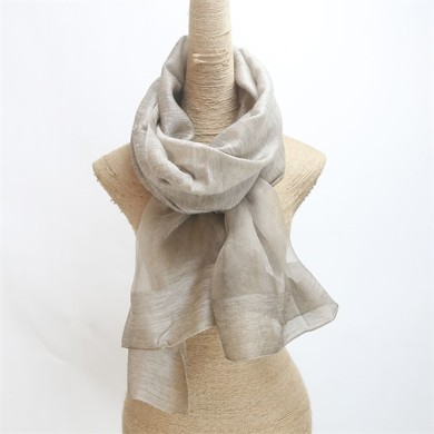 raw silk scarf shawl solid dyed silk wool mixed (8)