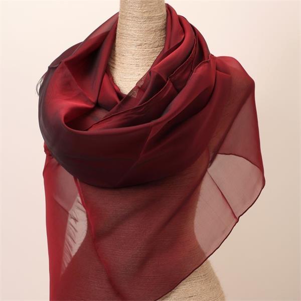 red black silk scarf malaysia silk hijab (1)