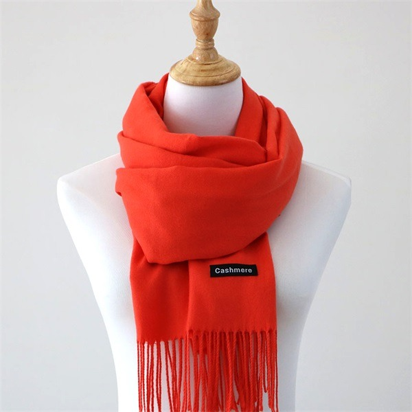 red cashmere feel scarf (1)