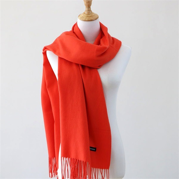 red cashmere feel scarf (2)