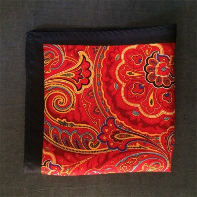 red silk pocket square