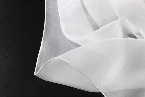 silk chiffon white silk scarf (2)
