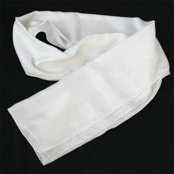 silk habotai white silk scarf (2)