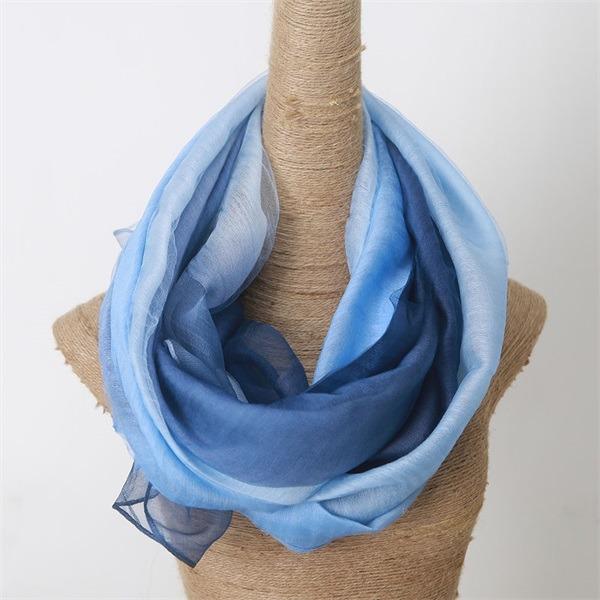 silk organza scarf mixed with wool (2)