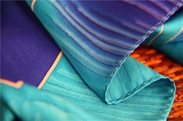 silk peacock scarf foulard de soie (4)