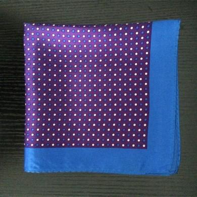 silk pocket square dot printed (2)