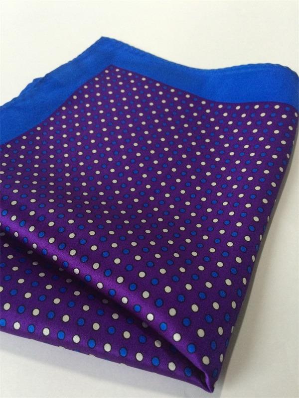 silk pocket square dot printed (3)