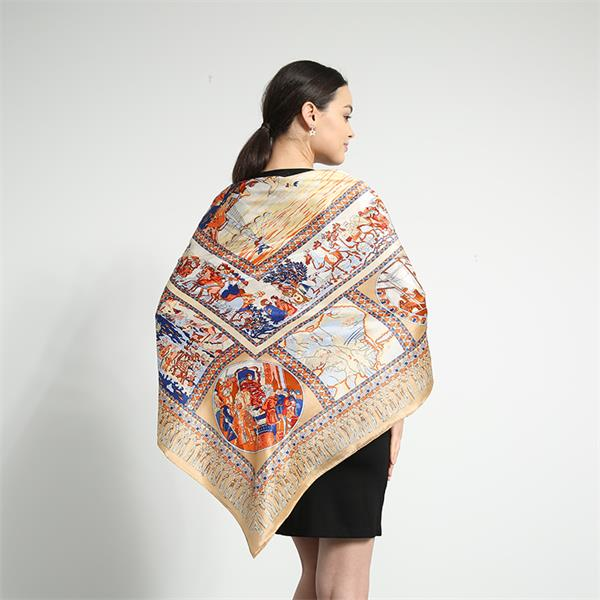 silk road large square silk scarves (1)