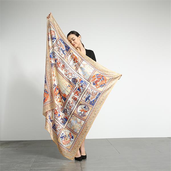 silk road large square silk scarves (3)