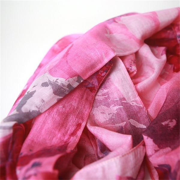 silk wool shawl digital printed (1)