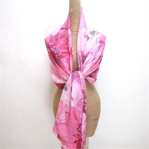 silk wool shawl digital printed (2)