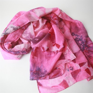 silk wool shawl digital printed (3)