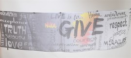 slogan printed letter scarf of 100 silk pongee material (3)