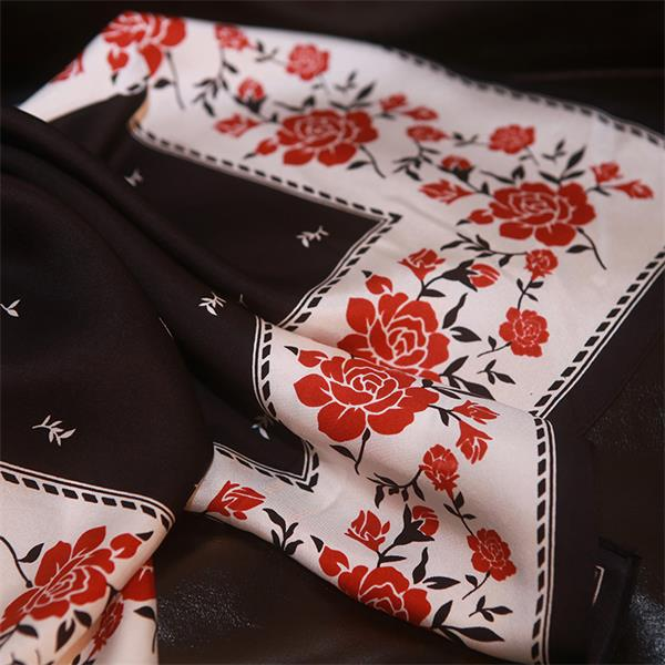small square japanese silk scarf