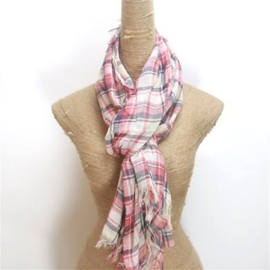 thin 100 cotton muffler scarf (2)