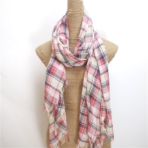 thin 100 cotton muffler scarf (3)