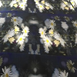 transparent silk chiffon crepe fabric digital printed