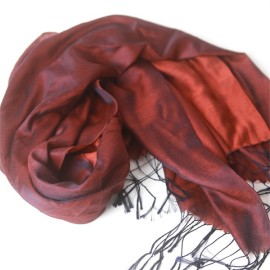 two tone water silk and cashmere pashmina