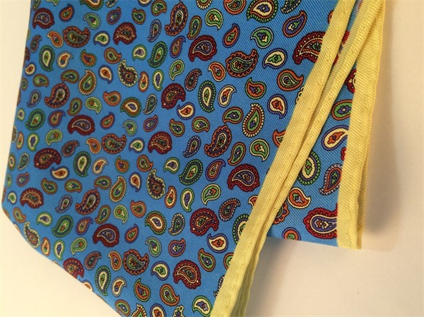 vintage paisley silk handkerchief (1)