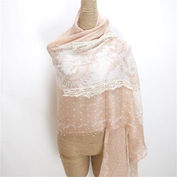 winter acrylic wool scarf (1)