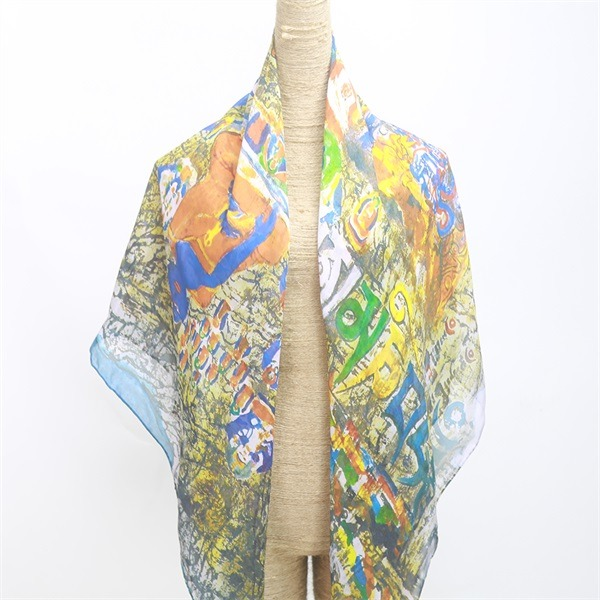 women's thin sheer chiffon scarves 100 silk(2)
