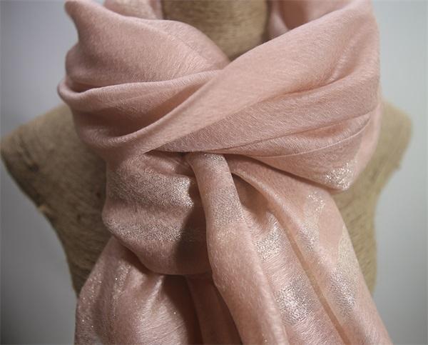 195237 silk wool lurex mixed shawl (2)